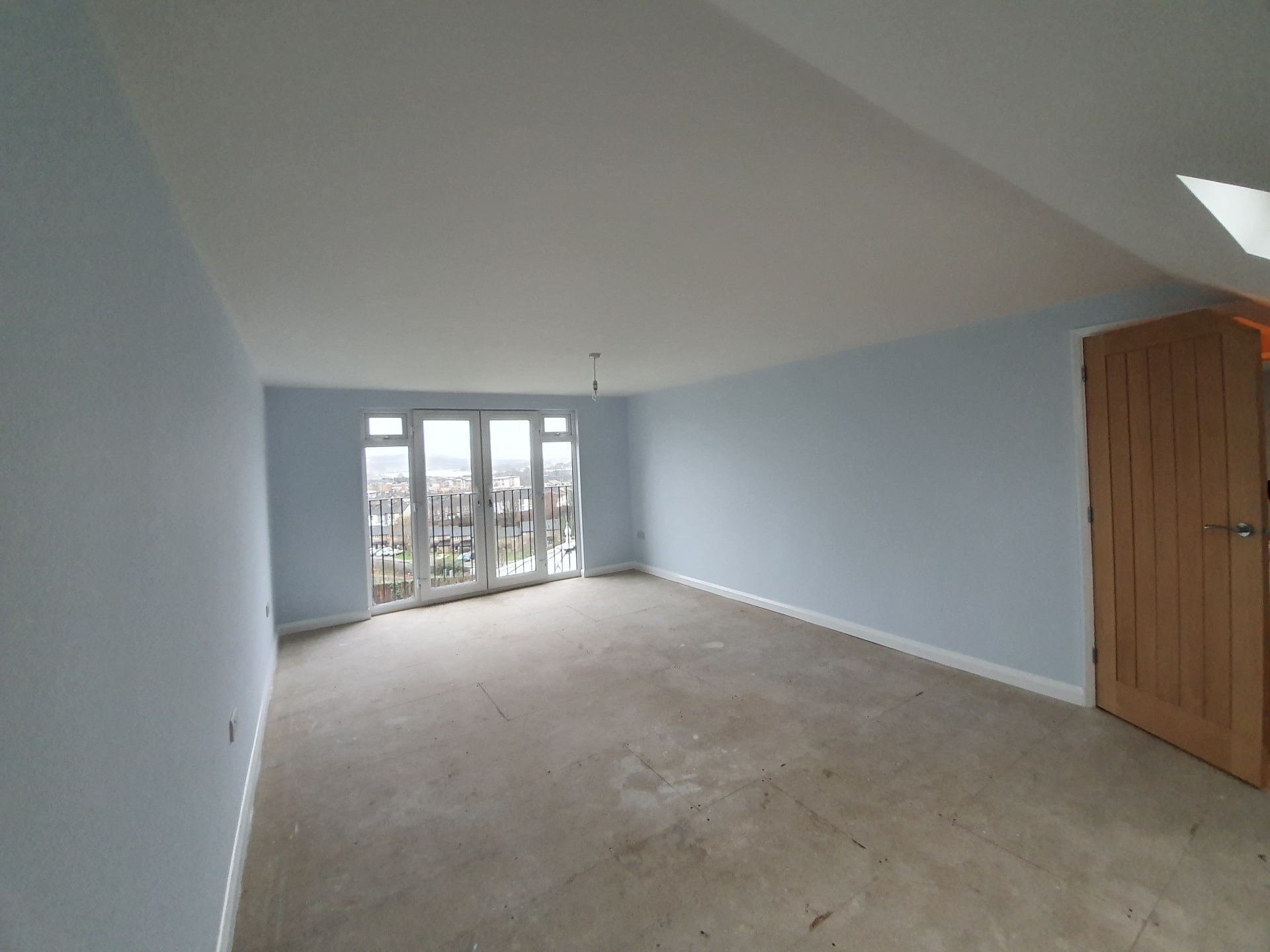A calming blue bedroom makeover