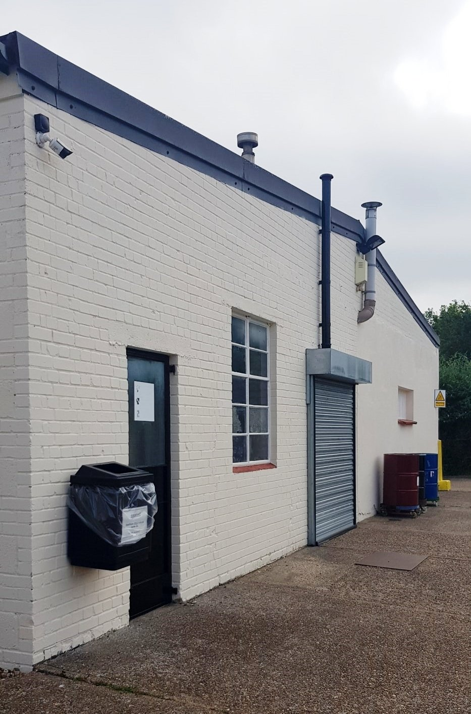 Commercial decorating – uplifted factory exterior