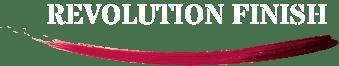 Revolution Finish white logo