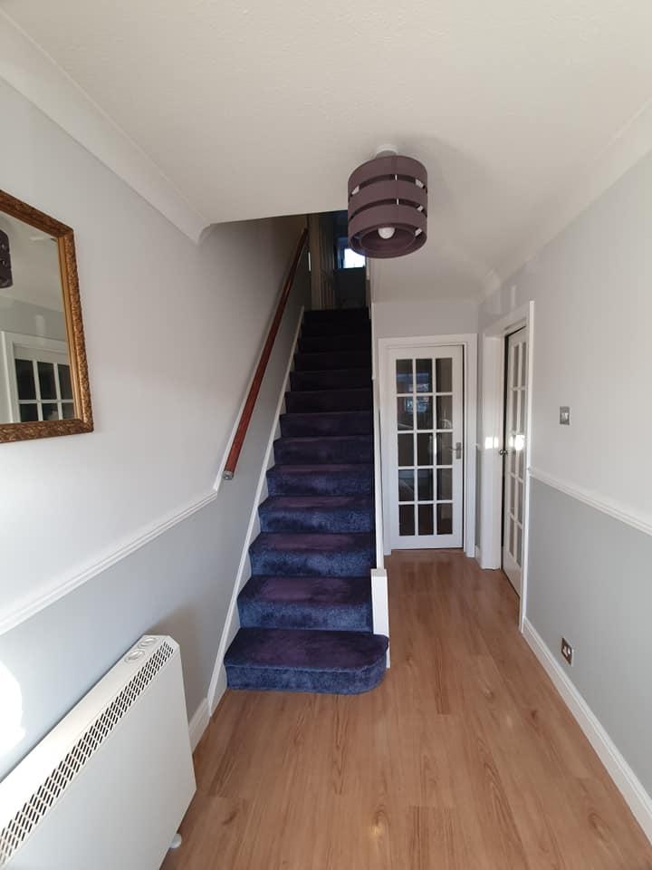 Brighten and transform a dark hallway