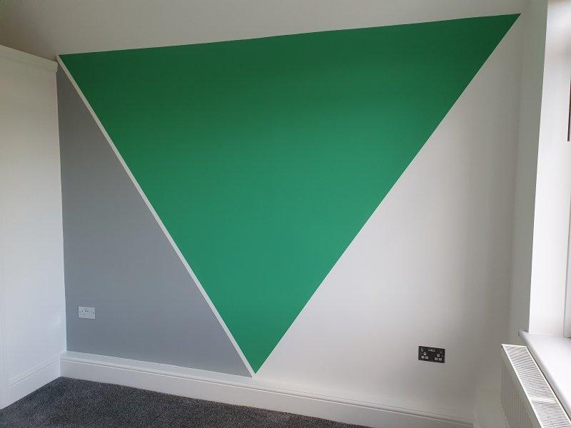 Eye-catching geometric walls