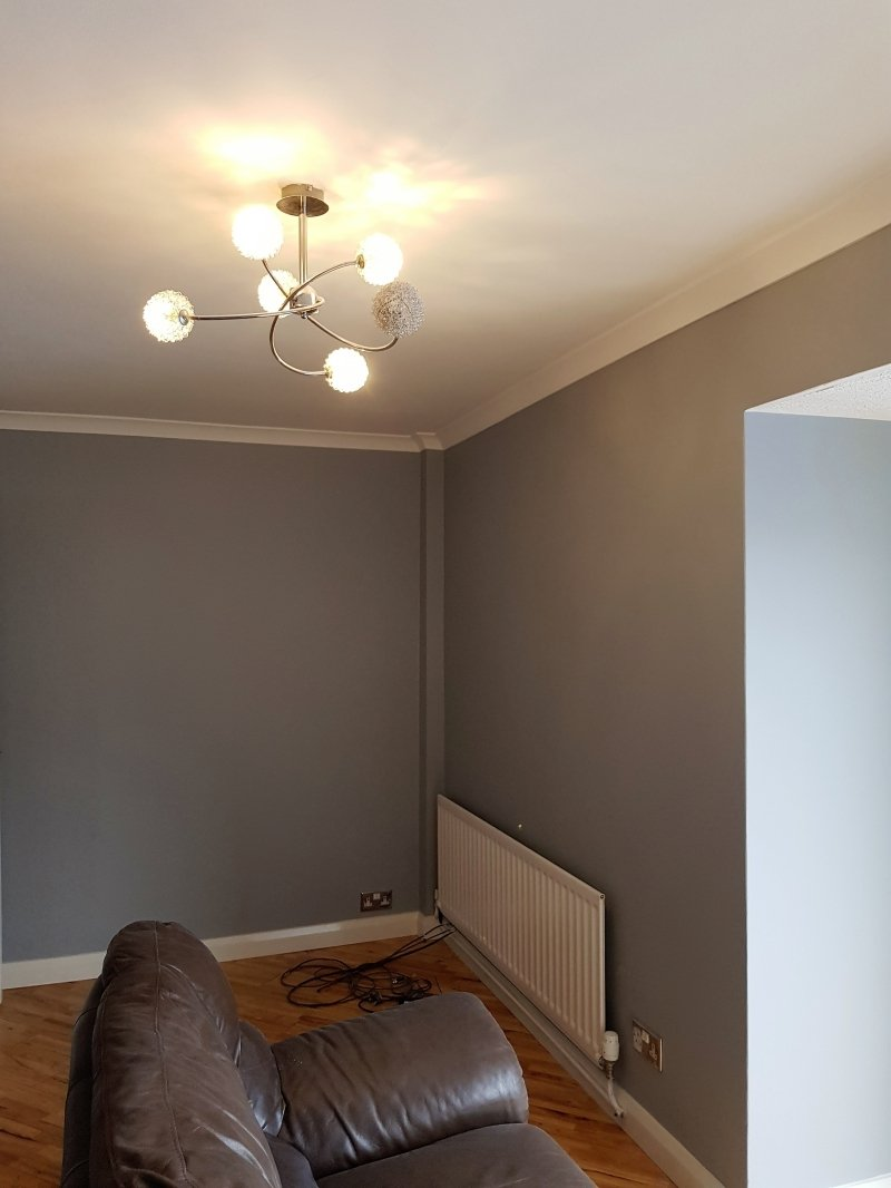 A lounge after being painted and decorated