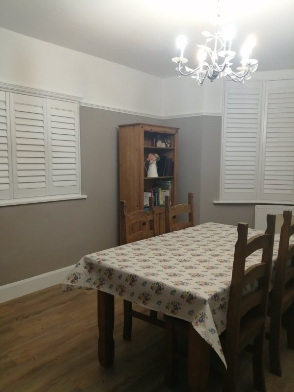 Dining room after painting and decorating