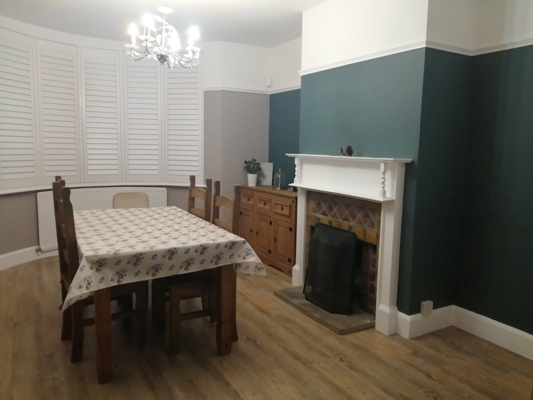 Dining room after being decorated