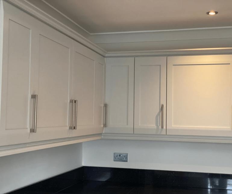 Black and white kitchen renovation