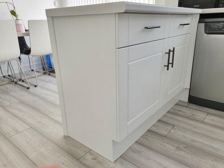 Contemporary white kitchen renovation