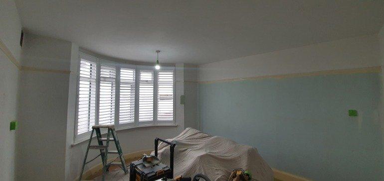Playroom before wallpapering and painting